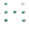 "Cat Eye Beads 4mm square Dark green Strand 16"" Fibre Optic Cube"